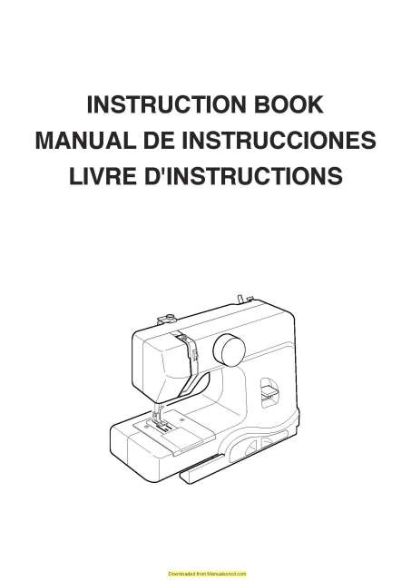 Janome 525 Derby Line Sewing Machine Instruction Manual