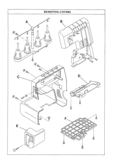 Elna 604E-614DE-624DSE Sewing Machine Service-Parts Manual