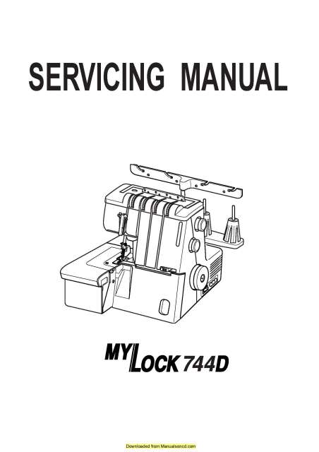 Janome 744D MyLock Sewing Machine Service-Parts Manual
