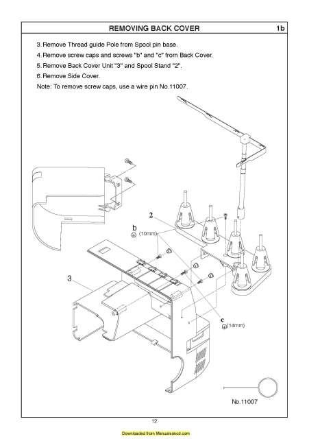 Janome 1200D Serger Sewing Machine Service-Parts Manual