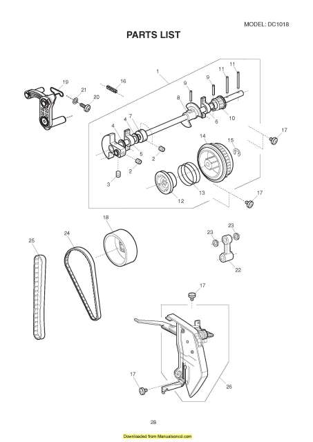 Janome DC1018 Sewing Machine Service-Parts Manual