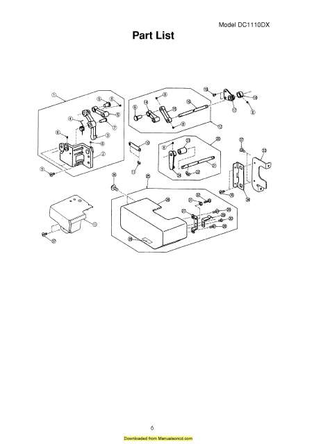 Janome 1110DX Serger Sewing Machine Service-Parts Manual