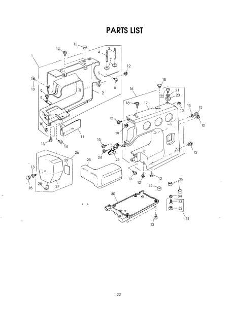 Janome 2003P Sewing Machine Service-Parts Manual