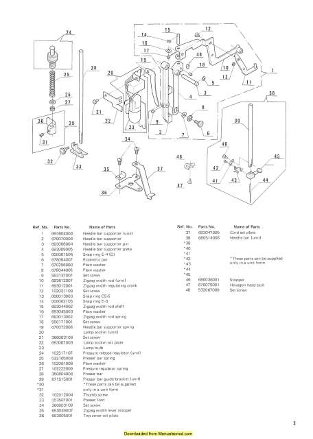 New Home 611 Sewing Machine Service-Parts Manual