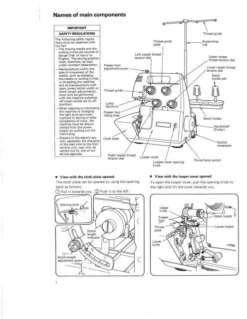 Bernina Bernette MO-234 Serger Sewing Machine Instruction