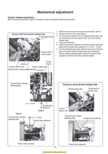 Elna 900 eXpressive Sewing Machine Service-Parts Manual