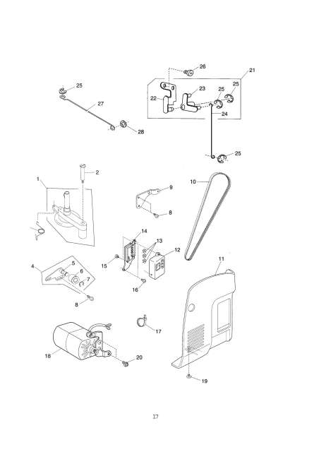 Janome 659 Sewing Machine Service-Parts Manual