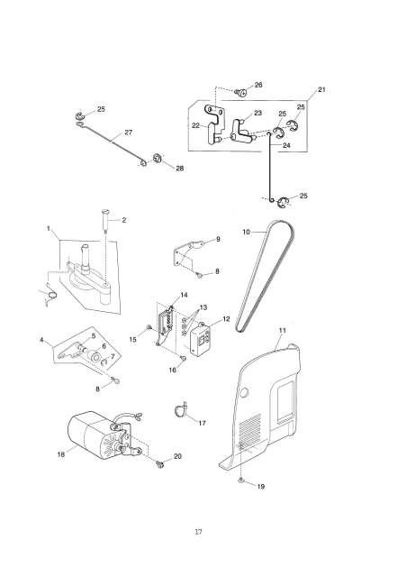 Janome 659 Sewing Machine Service-Parts Manual