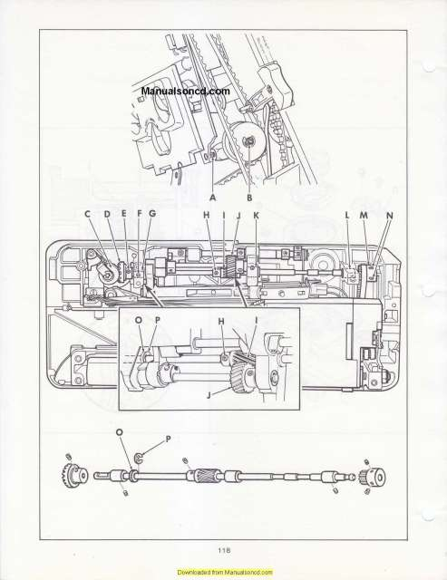 Singer 2000 Athena Sewing Machine Service Manual