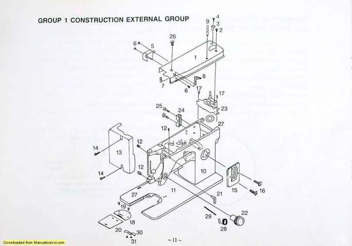 Thompson PW-301 Sewing Machine Instruction-Parts Manual
