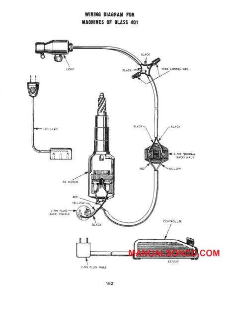 Singer 401-401A Sewing Machine Service-Parts Manual