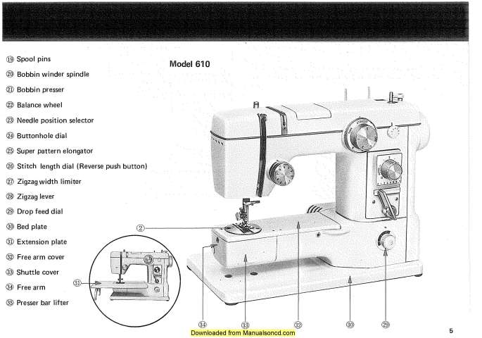 New Home 610-802 Sewing Machine Instruction Manual