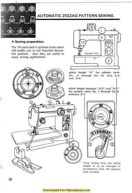 Janome 605 Sewing Machine Instruction Manual