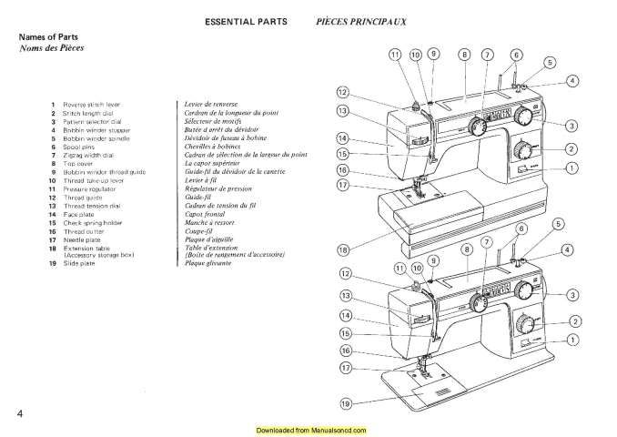 Janome New Home L352 L353 Sewing Machine Instruction Manual