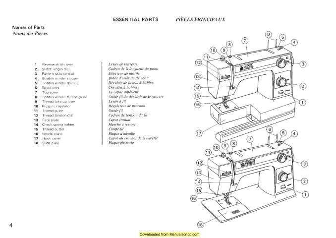 Janome New Home L-332 L-333 Sewing Machine Instruction Manual