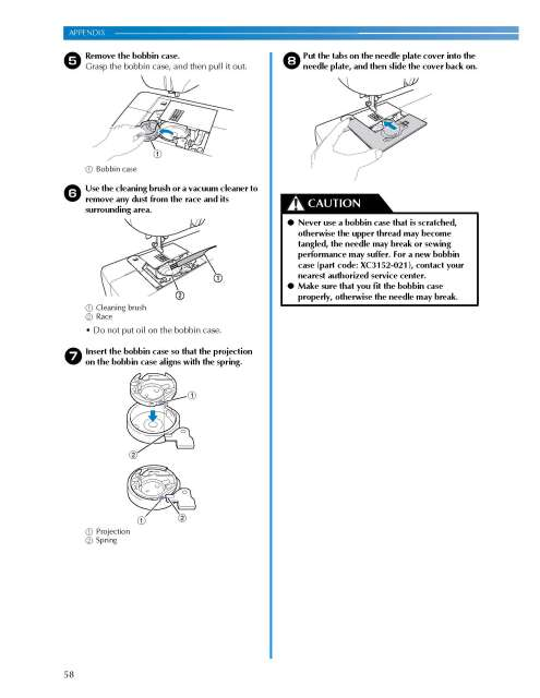 Brother CS-100T Sewing Machine Instruction Manual