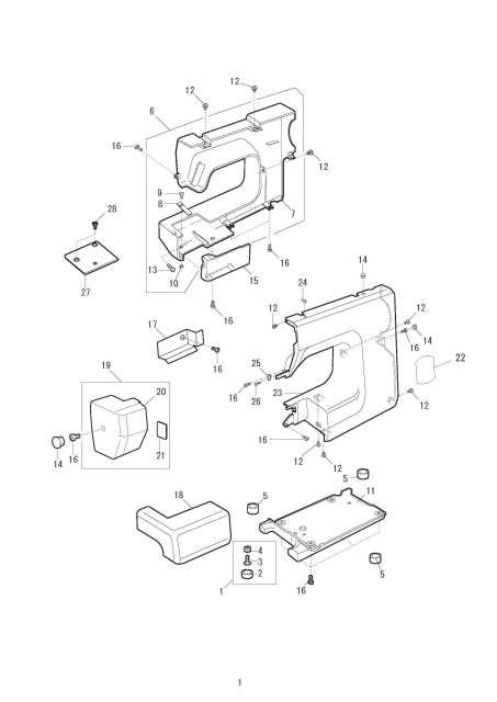 Janome FM725 Sewing Machine Service-Parts Manual
