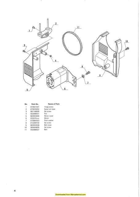 New Home Janome 693 Sewing Machine Service-Parts Manual