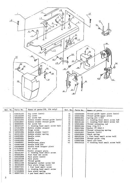 New Home 657-657A Sewing Machine Service-Parts Manual