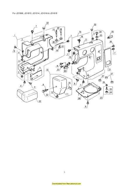 Janome New Home JD 1810 Sewing Machine Service-Parts Manual