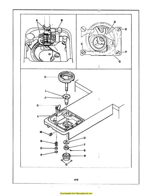 Singer 6102 Sewing Machine Service Manual