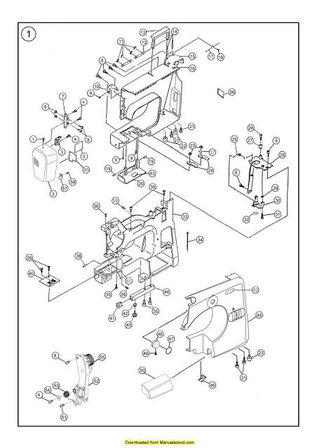 Janome 7306 Magnolia Sewing Machine Service-Parts Manual