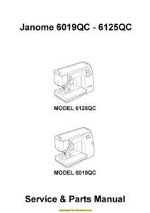 Janome 6019QC-6125QC Sewing Machine Service-Parts Manual