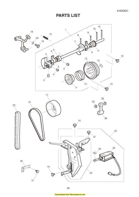 Janome 4120QDC Sewing Machine Service-Parts Manual
