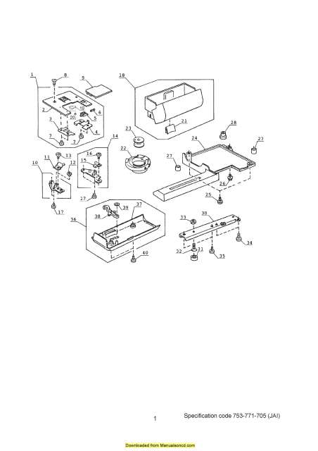 Janome 4618LE Sewing Machine Service-Parts Manual