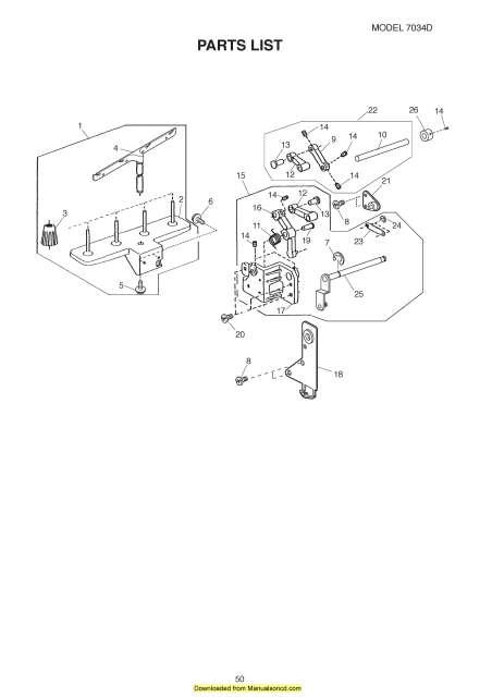 Janome 7034D Sewing Machine Service-Parts Manual