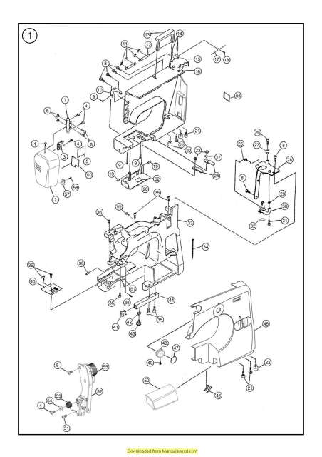 Janome 7312 Sewing Machine Service-Parts Manual
