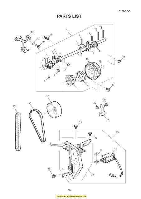 Janome 3160QDC Sewing Machine Service-Parts Manual
