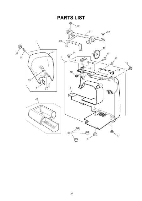 Janome 8048 Harmony Sewing Machine Service-Parts Manual