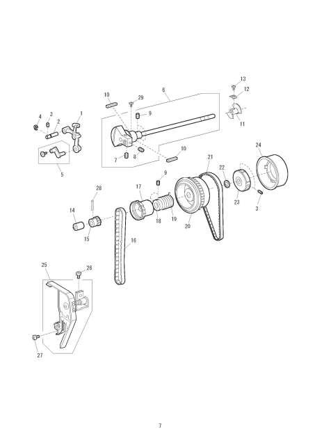 Janome 3308-3022 Sewing Machine Service-Parts Manual
