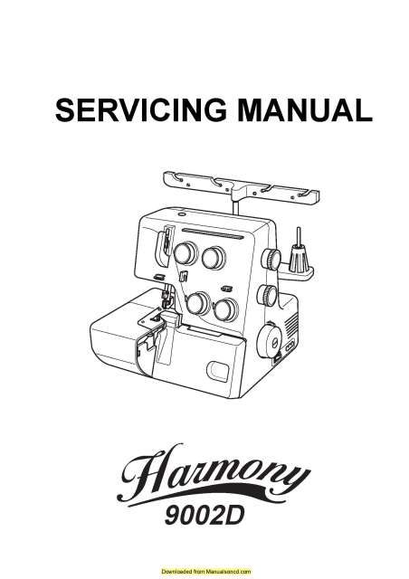 Janome 9002D Sewing Machine Service-Parts Manual