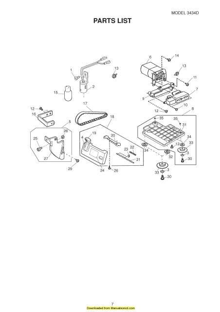 Janome HF3434D Sewing Machine Service-Parts Manual