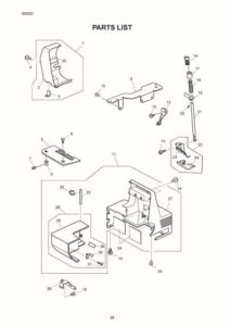Janome 8002D Sewing Machine Service-Parts Manual