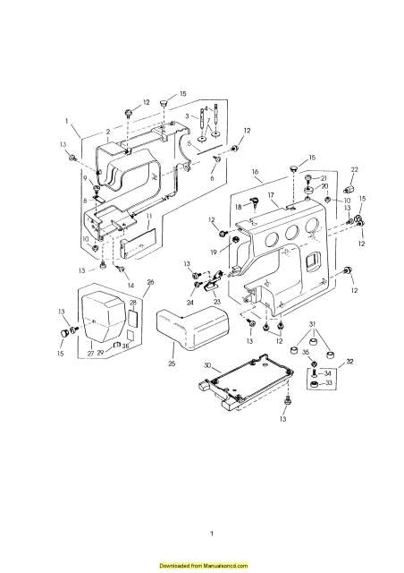 Janome HF2022 Sewing Machine Service-Parts Manual