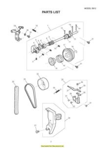 Janome 5812 Sewing Machine Service-Parts Manual