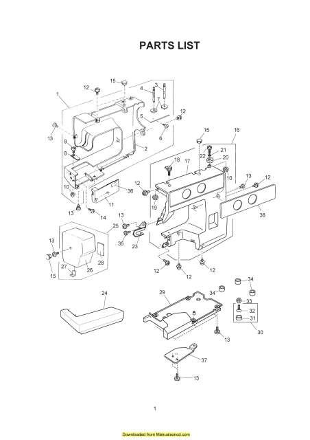 Janome JS1008 Sewing Machine Service-Parts Manual