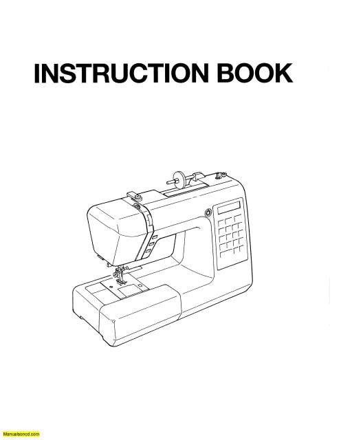 Janome XC33 Sewing Machine Instruction Manual