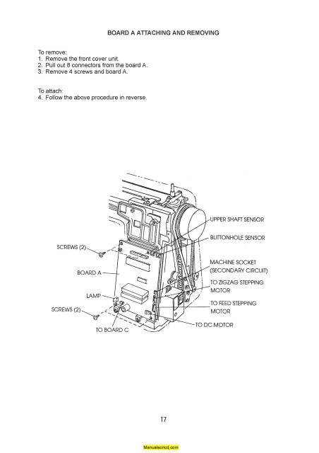 Janome 3500 Memory Craft Sewing Machine Service-Parts Manual