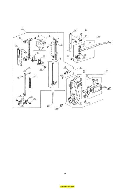 Janome 5000 Memory Craft Sewing Machine Service-Parts Manual