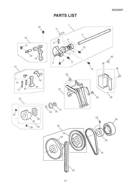 Janome 6300 Memory Craft Sewing Machine Service-Parts Manual