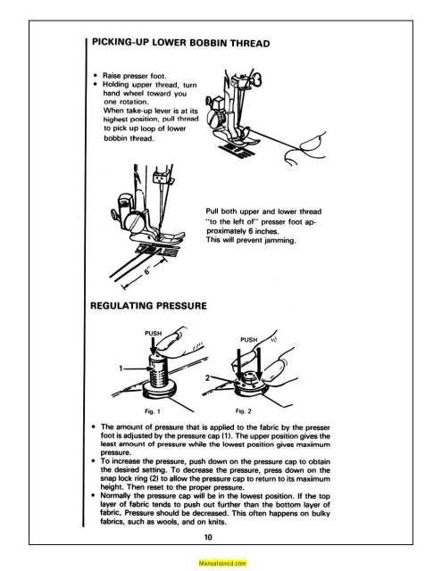White 1240 Sewing Machine Instruction Manual