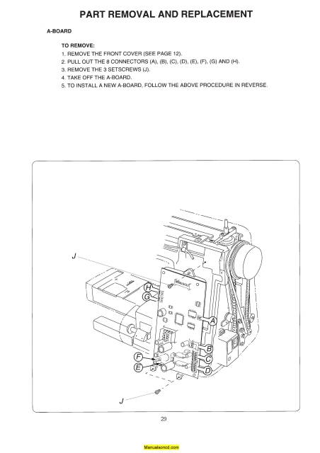 Janome 4800 Memory Craft Sewing Machine Service-Parts Manual