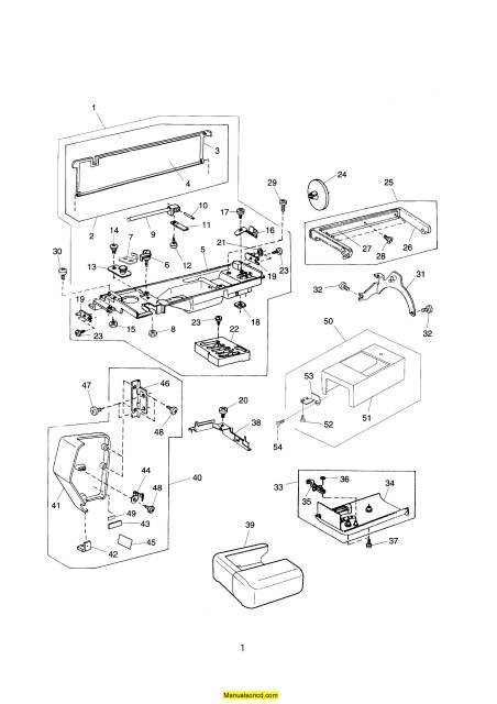 Janome 4800QC Memory Craft Sewing Machine Service-Parts Manual