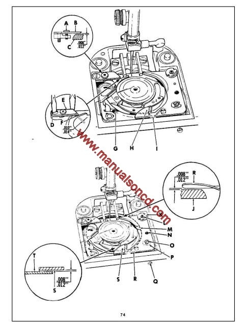 Singer 2000A Sewing Machine Service Manual