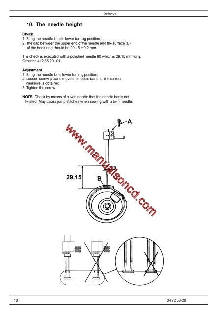 Husqvarna Viking Service Manual Designer I