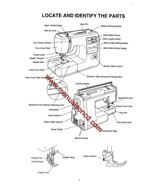 Kenmore 385.16221300 Sewing Machine Service Manual